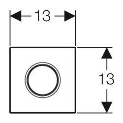 Geberit Urinal-Handauslösung HyTouch Sigma01 weiß-alpin pneumatisch 116011115