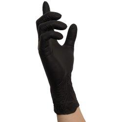Nitras Nitril Handschuhe Black Wave schwarz 100 Stk. 8320 Größe L