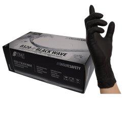 Nitras Nitril Handschuhe Black Wave schwarz 100 Stk. 8320 XL