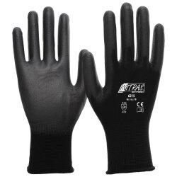 Nitras Nylon-PU Handschuhe 6215 schwarz L Gr. 8