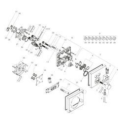 Hansgrohe Thermostat Unterputz ShowerSelect FS 2 Verbraucher chrom m.Fixfit u.Porter 15765000