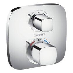 Hansgrohe Thermostat Unterputz Ecostat E Fertigset 2 Verbraucher chrom 15708000