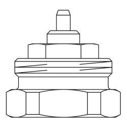 Oventrop Adapter M30x1,0 auf M30x1,5 1011445