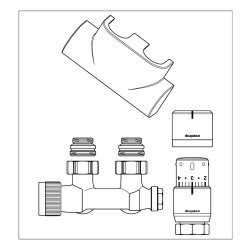 Oventrop Anschluss-Set 2 Multiblock T/Uni SH, Eckform...