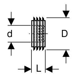 Geberit Spülrohrinnenverbinder 44x55mm 119668001