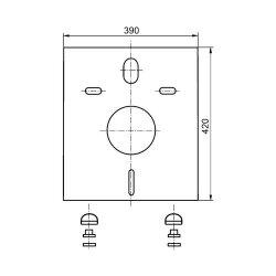 Sanit Schallschutz für Wand-WC und Bidet weiß 16.002.00..0000