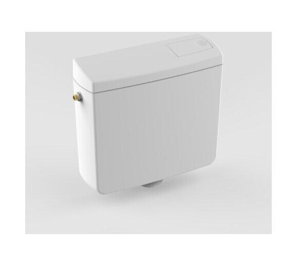 Sanit 928 WC-Spülkasten weiß tiefhängend, Spülmenge 6-9 l einstellbar mit Eckventil  91.903.01..0000