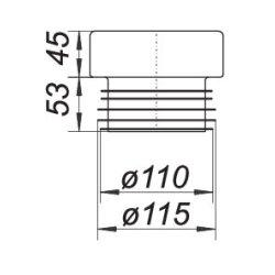 Dallmer WC-Verbinder 783N, DN100, 253019
