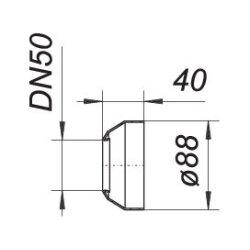 Dallmer Wandrosette R5, DN 50, 090829