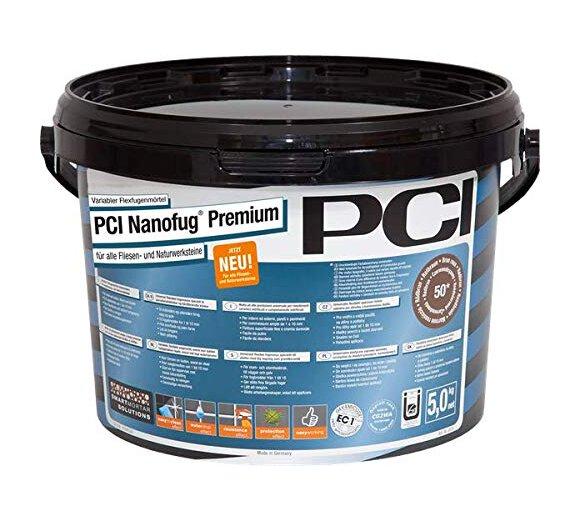 PCI Nanofug Premium 5kg Flexfugenmörtel Nr. 21 hellgrau