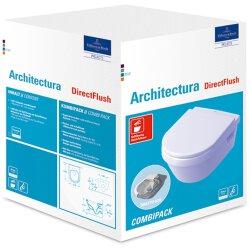 Villeroy & Boch Combi-Pack Omnia Architectura weiß alpin Ceramicplus inkl. WC-Sitz 5684HRR1