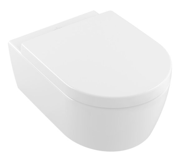 Villeroy & Boch Combi-Pack Avento DirectFlush wandhängend Weiß Alpin CeramicPlus inkl. WC-Sitz 5656HRR1