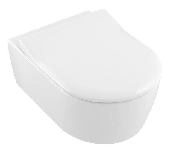 Villeroy & Boch Combi-Pack Avento DirectFlush wandhängend Weiß Alpin inkl. WC-Sitz 5656RS01