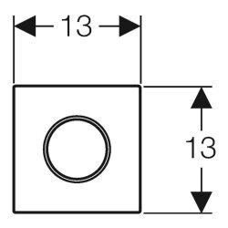 Geberit HyTouch UR-Steuerung pneumatisch Sigma10 weiß-hochglanz-verchromt 116015KJ1