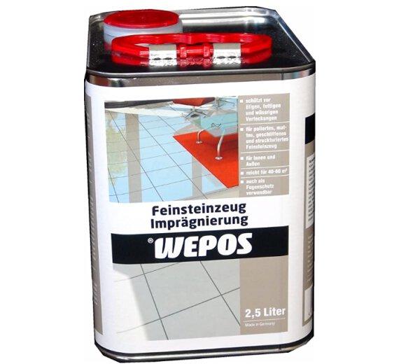 Wepos Feinsteinzeug Imprägnierung 2,5 Liter 2000204419