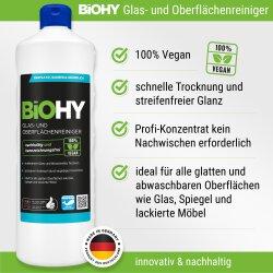 BiOHY Glas- und Oberflächenreiniger, Bio-Konzentrat, 1l