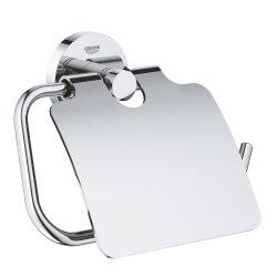 Grohe Essentials WC-Papierhalter rund mit Deckel chrom...