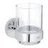 Grohe Essentials Glas mit Halter rund chrom 40447001
