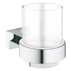 Grohe Essentials Cube Glas mit Halter eckig chrom 40755001