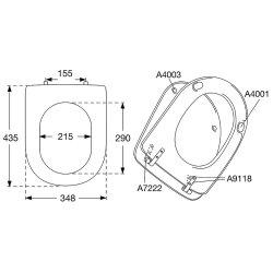 Pressalit Magnum Standard WC-Sitz weiß 104000-B33999