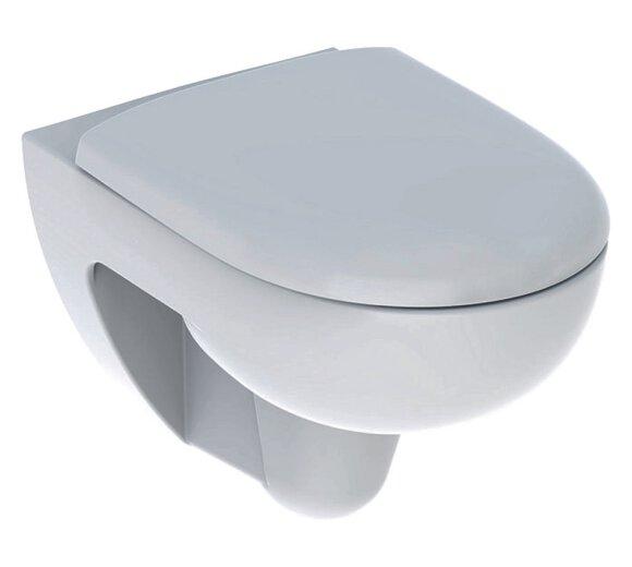 Geberit Renova Wand-WC Tiefspüler spülrandlos Komplett-Set inkl. WC-Sitz, weiß 500801001