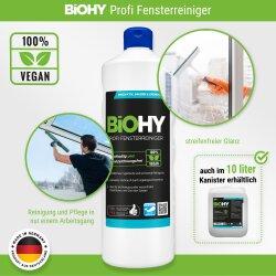 BiOHY Profi Fensterreiniger, Glasreiniger, Bio-Konzentrat, 1l