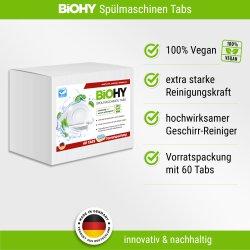 BiOHY Spülmaschinentabs 2-Phasen - 60 Tabs...