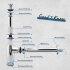 "kör4u Premium Design Siphon 1 1/4""x32mm universal rund chrom"