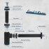"""kör4u Design Tassengeruchverschluss für Waschbecken universal schwarz matt 1 1/4""""x32mm"""