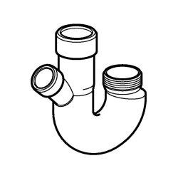 Geberit Doppelkammersiphon 40mm Kunststoff, weiß 252053111