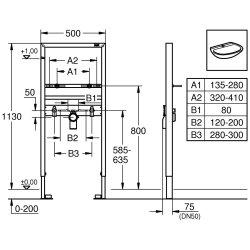 Grohe Waschtisch-Element Rapid SL 113cm 38554001