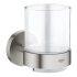 Grohe Glas mit Halter Essentials supersteel 40447DC1