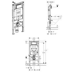 Geberit Duofix UP320 112 cm mit Geruchsabsaugung Abluft...