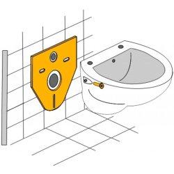 Otto Haas Schall-/Montageset für Wand-WC 4 mm, Standard mit Montagezubehör 7440