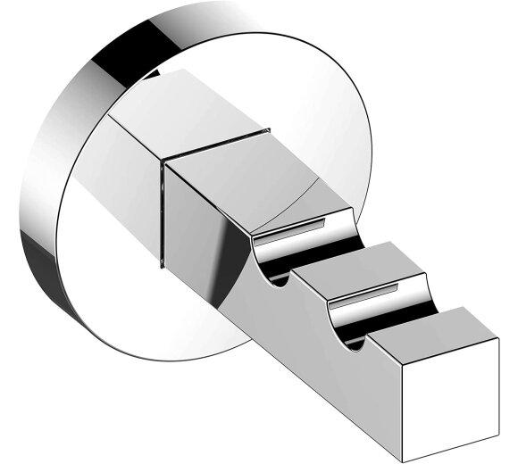 KEUCO Handtuchhaken doppelt aus Metall, hochglanz-verchromt 19015010000