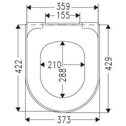Villeroy & Boch WC-Sitz Omnia Architectura softclose und quick release weiß, 98M9C101