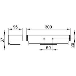 KEUCO Duschablage Edition11 aus Aluminium silber eloxiert/verchromt, abnehmbar 11158010000