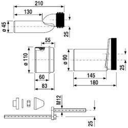 Sanit WC-Etagen-Anschlussgarnitur DN100 PP, 58.926.00..0000