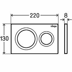 Viega Betätigungsplatte Vision for Style 20 weiß-alpin Model 8610.1, 773793