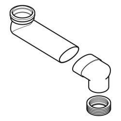 Geberit WC-Etagenbogen waagerecht grau, 388350291