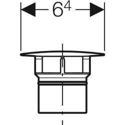 Geberit Ventilabdeckung für Clou ohne Stopfen hochglanz verchromt, 241993211