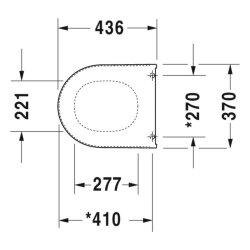 Duravit Darling New/Starck2 WC-Sitz ohne softclose mit Edelstahlscharnieren weiß, 006981000