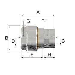 "Simplex Schwarzrohradapter PLUS DVGW f. Rohr 3/4""..."
