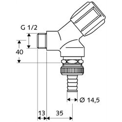 """Schell Geräteschrägsitzventil Comfort 1/2""""..."""