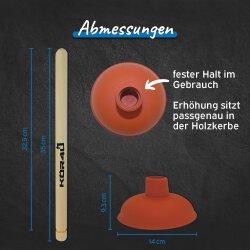 kör4u Ausgussreiniger mit Stiel, 140 mm