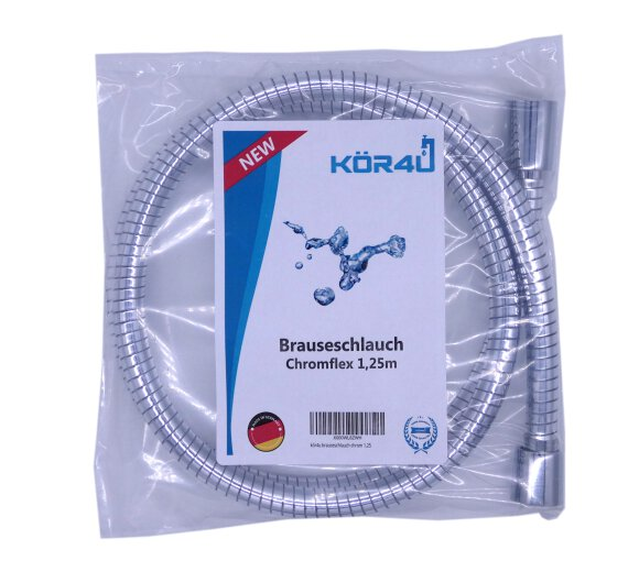 Brauseschlauch Chromflex transparent 4mm 125 cm by kör4u