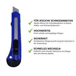 Cuttermesser-Ersatzklingen 18mm 10 Stück