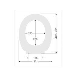 SANIBEL 1001 WC-Sitz mit Deckel Bügelbefestigung aus Edelstahl weiß